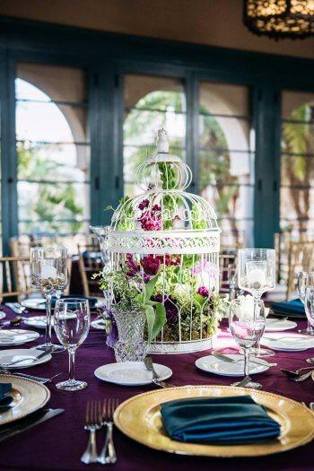 Vogelkfig mit Blumen I Ideen fr die Tischdeko an der