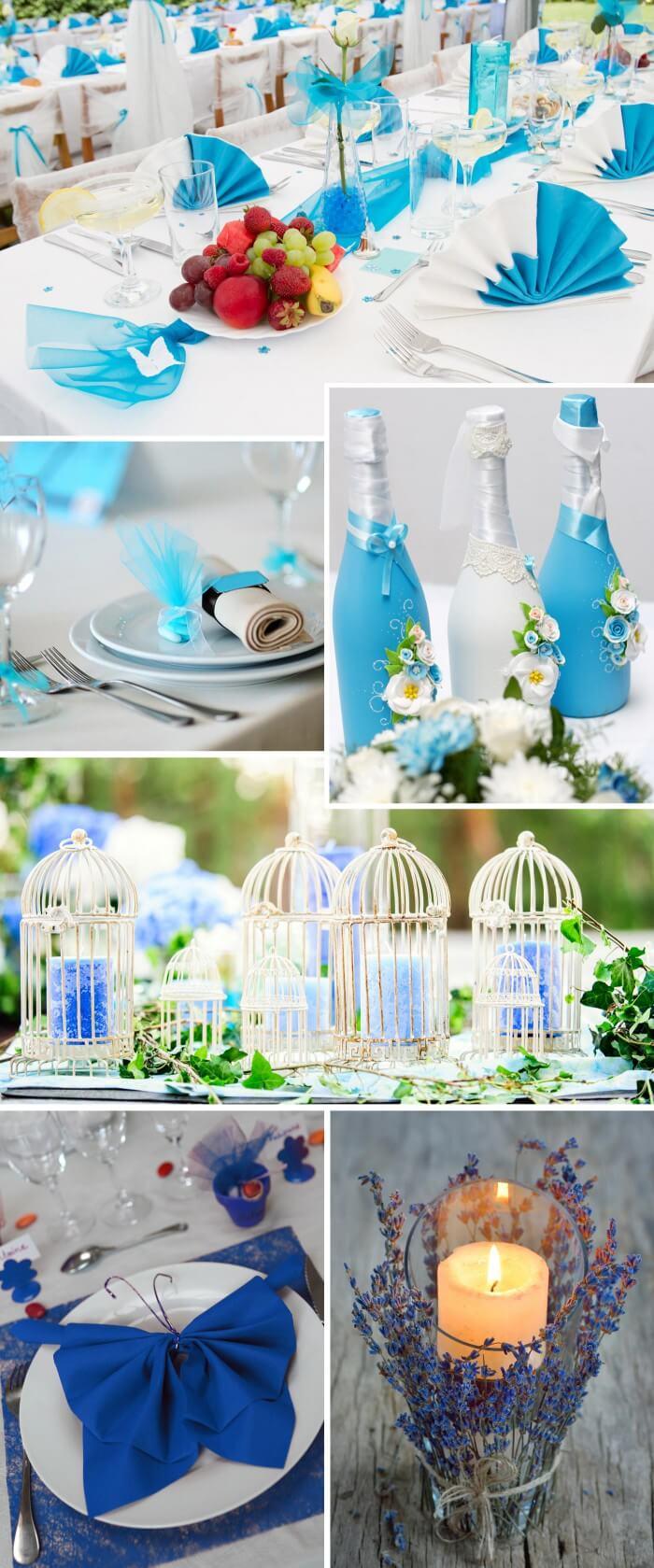 Tischdeko in Trkis  Blau  Viele Ideen fr die Hochzeitsdeko