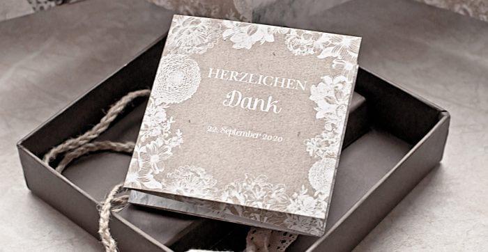 Danksagungskarten Hochzeit  50 zauberhafte Designs Tipps  Ideen