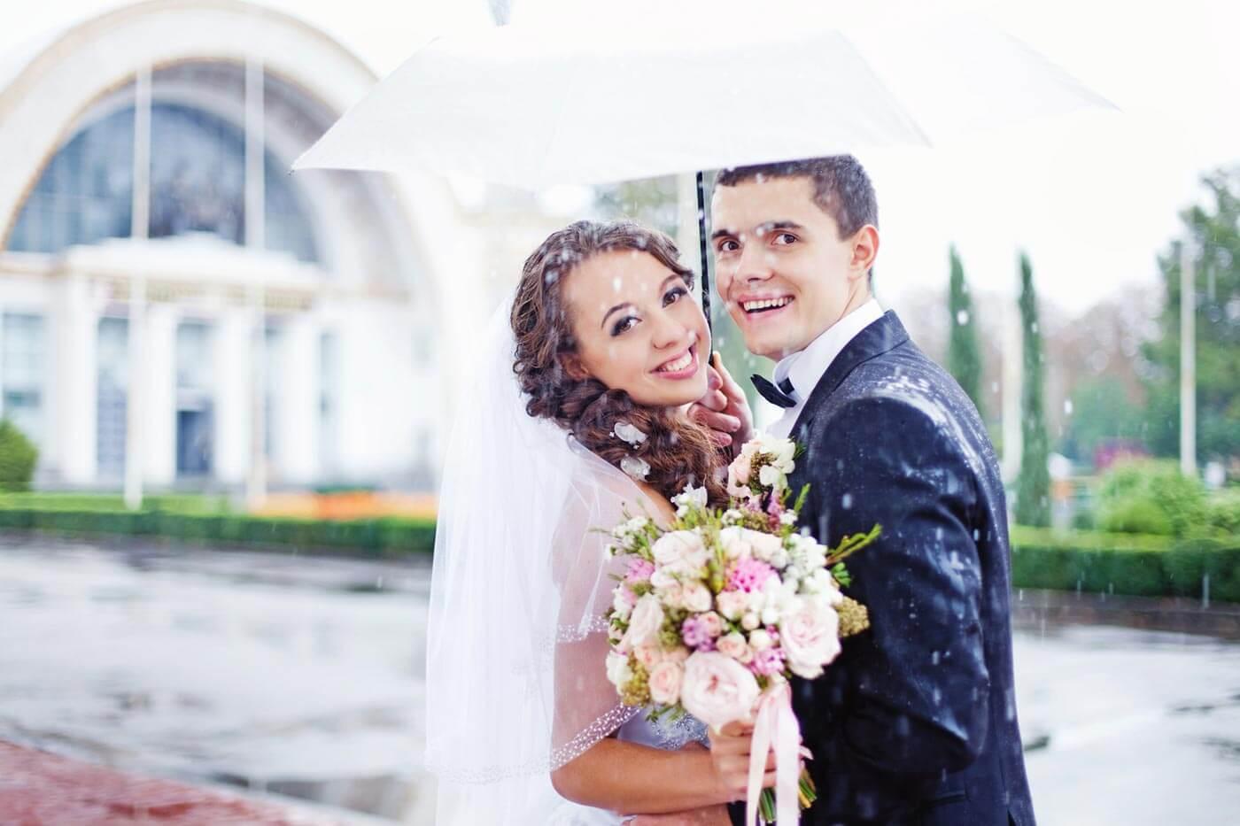 Zur Hochzeit Regen So freut ihr euch trotzdem