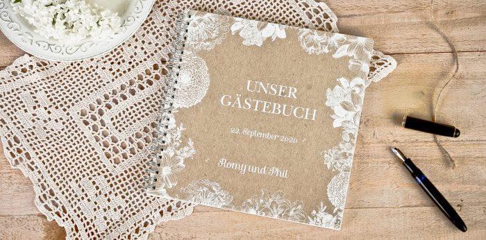 Hochzeitsgstebuch klassisch personalisiert oder