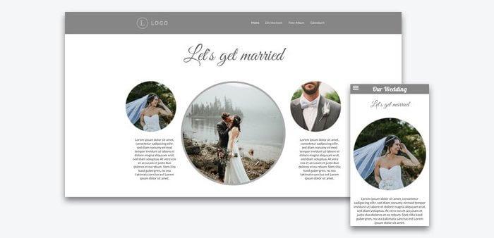 Hochzeitshomepage Beispiele Tipps zum Inhalt  viele