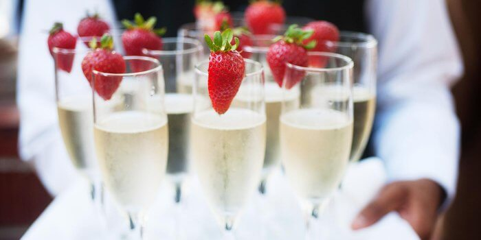 Sektempfang zur Hochzeit  Tipps  Ideen zu Getrnken  Co