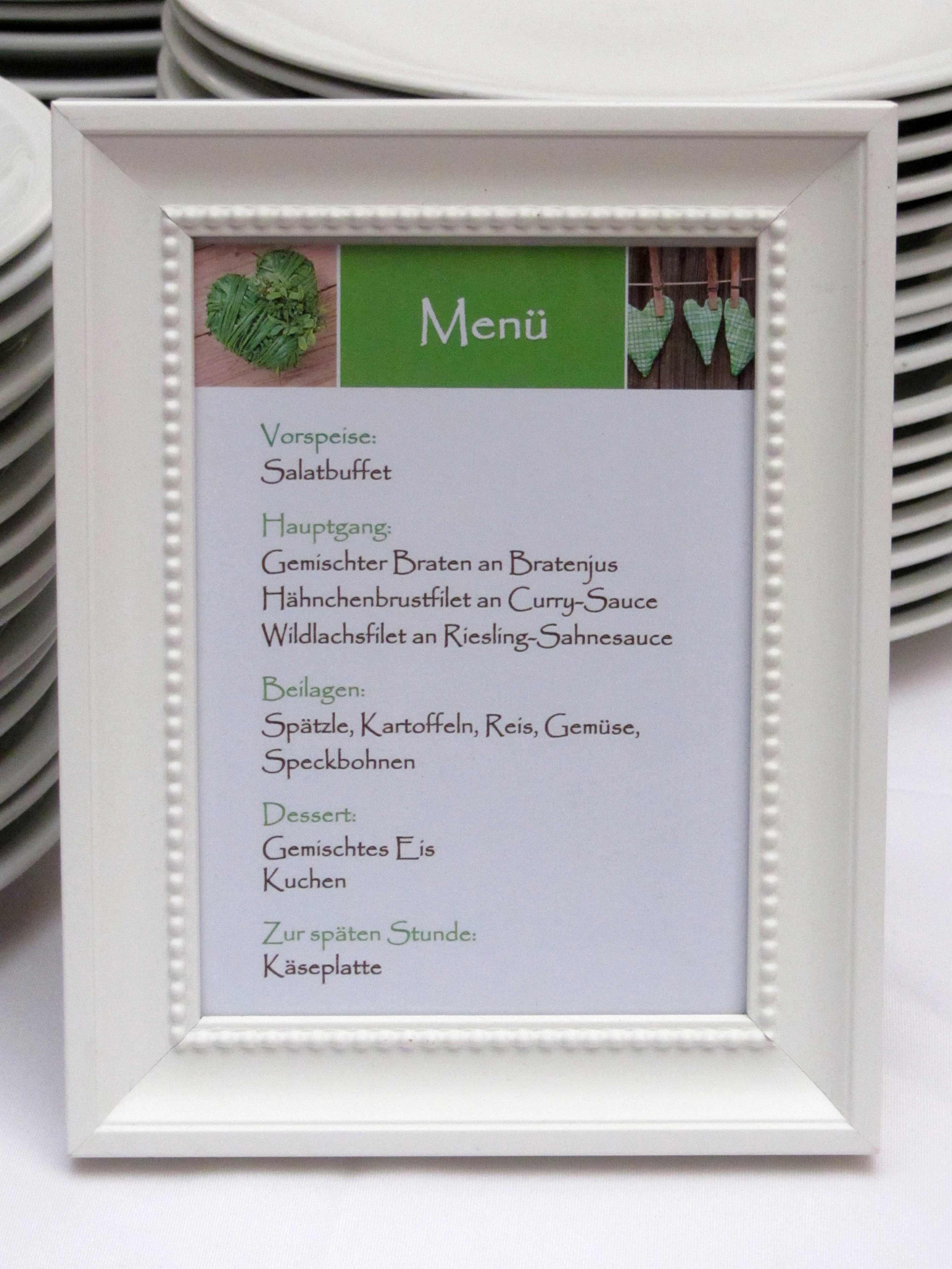 Menkarten zur Hochzeit  Beispiele Ideen  Inspirationen