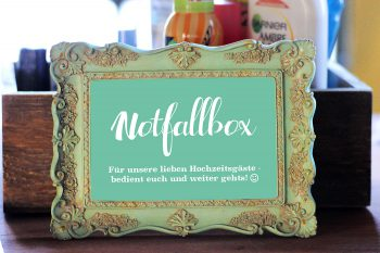 Checkliste fr die Hochzeit Notfallbox  Hochzeitsportal24