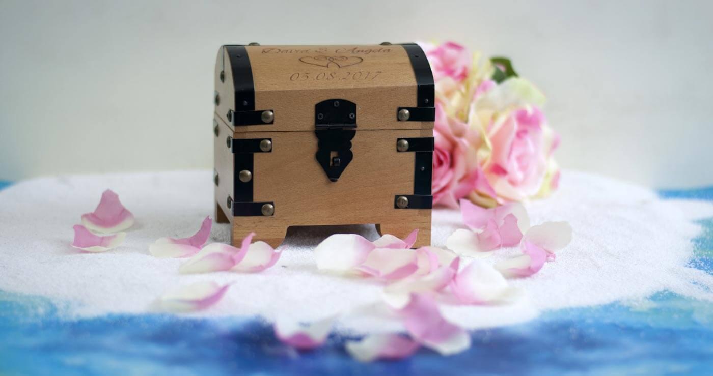 Geldgeschenk Schatztruhe  Hochzeitsportal24
