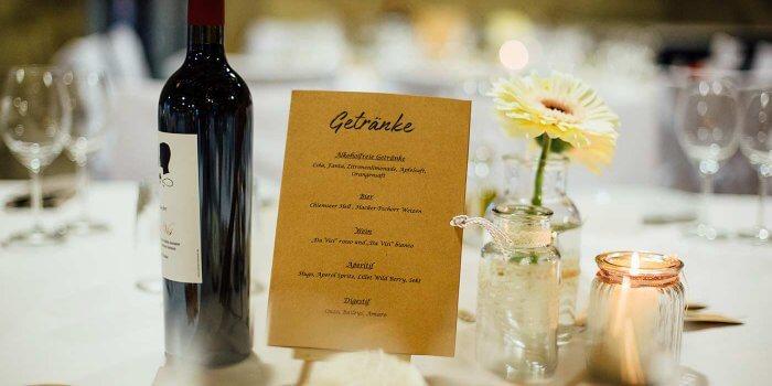 Getrnkekarte zur Hochzeit I Tipps Ideen und Inspirationen