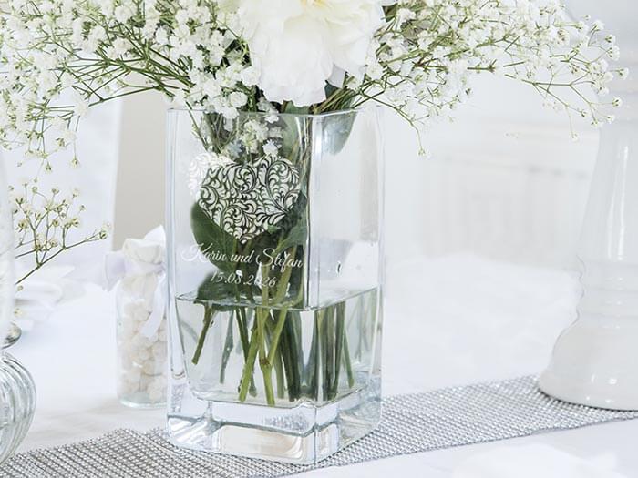 Personalisierte Hochzeitsvase  eine tolle