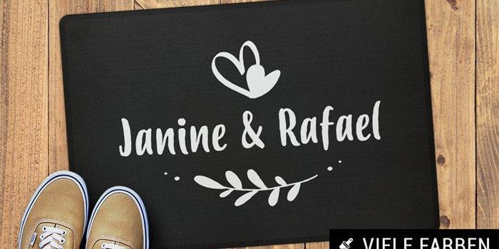 Personalisierte Fumatte mit Namen  Tolle Designs aus ber 10 Shops