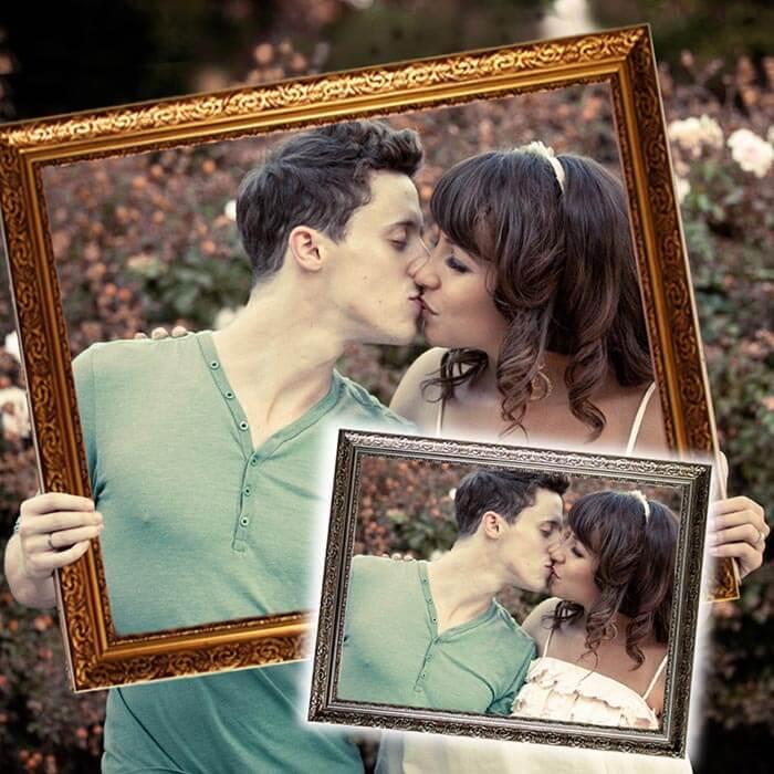 Hochzeitsrahmen fr lustige Hochzeitsfotos