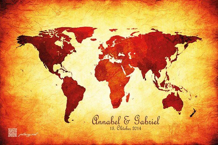 Hochzeitsspiel Weltkarte Reisefhrer  Hochzeitsportal24