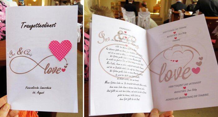 Kirchenheft fr die Hochzeit Anleitung  Hochzeitsportal24