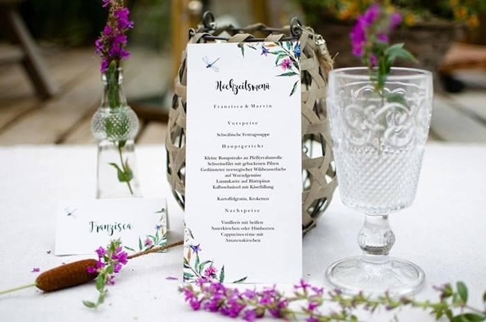 Menkarten zur Hochzeit  Die TOP 50 Beispiele Ideen