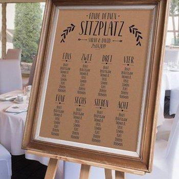 SitzordnungTischordnung zur Hochzeit  17 kreative Ideen