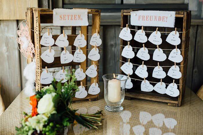 Sitzordnung Hochzeit  30 kreative Ideen  Inspirationen fr euren Tischplan