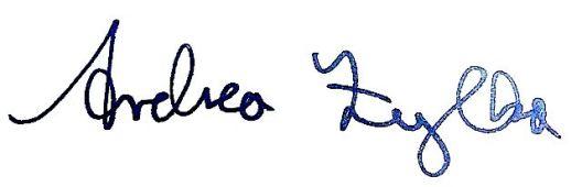 Unterschrift Andrea Zylka