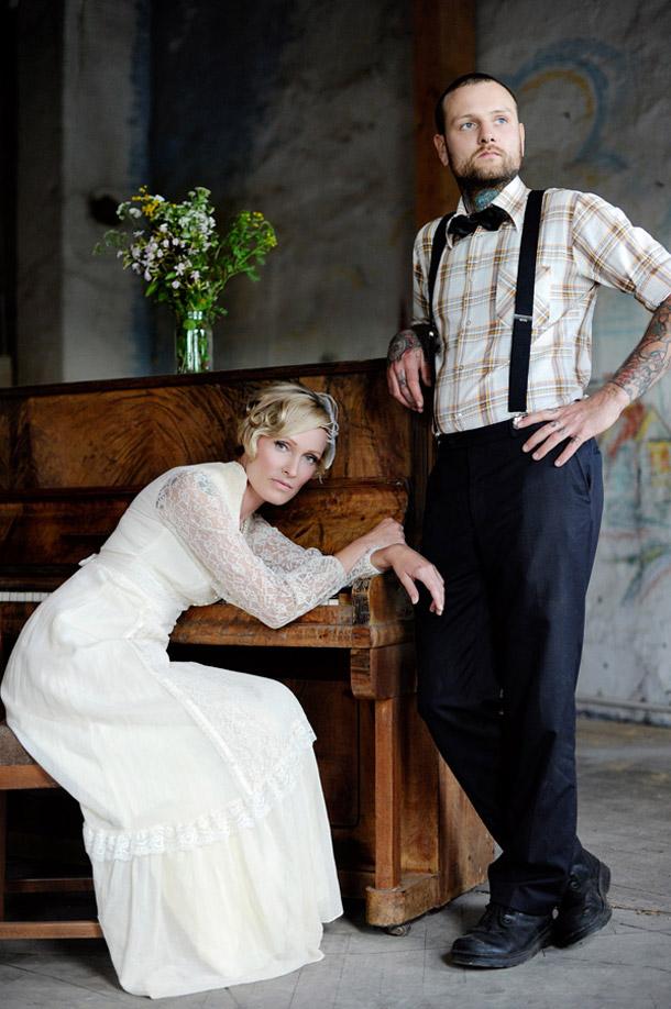 Braut  Brutigam im vintage Style bei Squareville Studios  Hochzeitswahn  Sei inspiriert