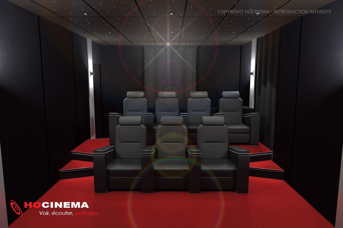 Le concept07A  une salle cinma maison ralise sur mesure
