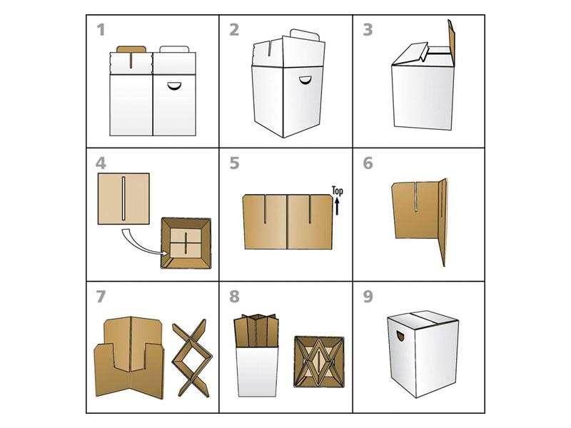 Sitzhocker Pappe in verschiedenen Varianten