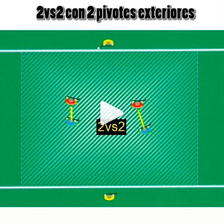 fieldhockey drill 2vs2