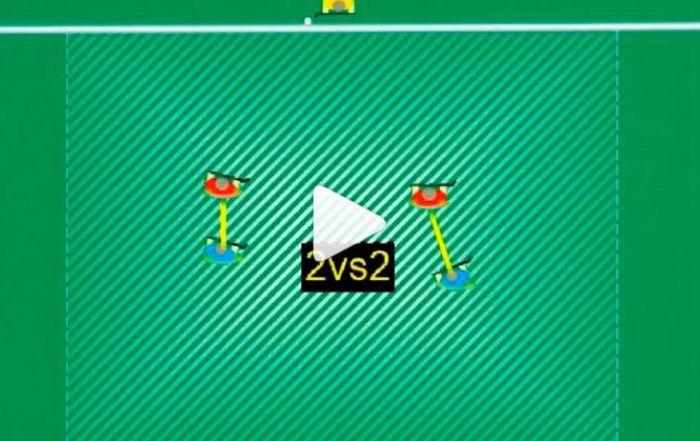 fieldhockey drill 2vs2