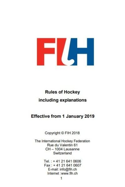 Field Hockey Rules 2019