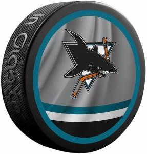 2020-2021 San Jose Sharks Souvenir puck. Logo on both sides.
