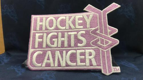 """Hockey Fights Cancer Patch. 5""""x4"""""""