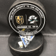 2019 San Jose Sharks vs Vegas Golden Knights Used Official Warm Up Puck. December 22 2019.