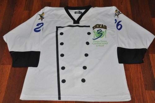 "2007-2008 Texas Tornado  #26 Matt Tennyson Specialty Waiter night jersey. Autographed ""To Big Mamma"""