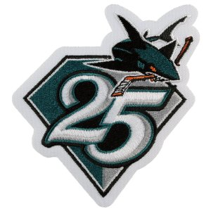 2015 San Jose Sharks 25th Anniversary Hockey jersey patch.