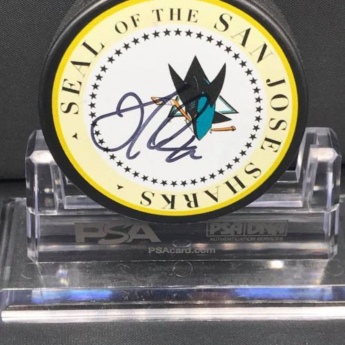 2017-18 San Jose Sharks Foundation Limited Edition Mystery Pucks.#42 Joel Ward.