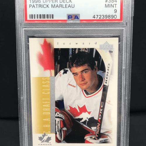 1996 UD Patrick Marleau Rookie Card #384. PSA Mint 9 .# 47239890