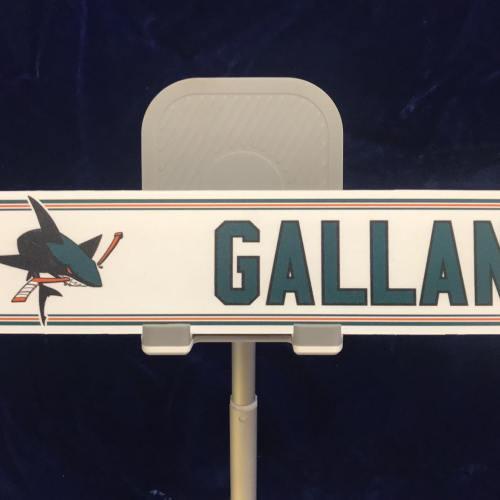 "#60 San Jose Sharks Zack Gallant Home Nameplate ""12x2"""