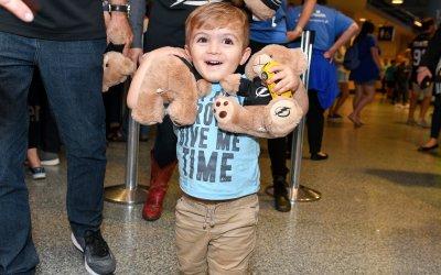 AdventHealth / Tampa Bay Lightning Hockey Bear Cheers Up Kids In Hospitals