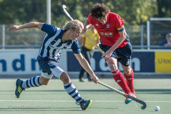 Cédric de Gier (hdm) in duel met Jan-Maarten Tacke (Tilburg)