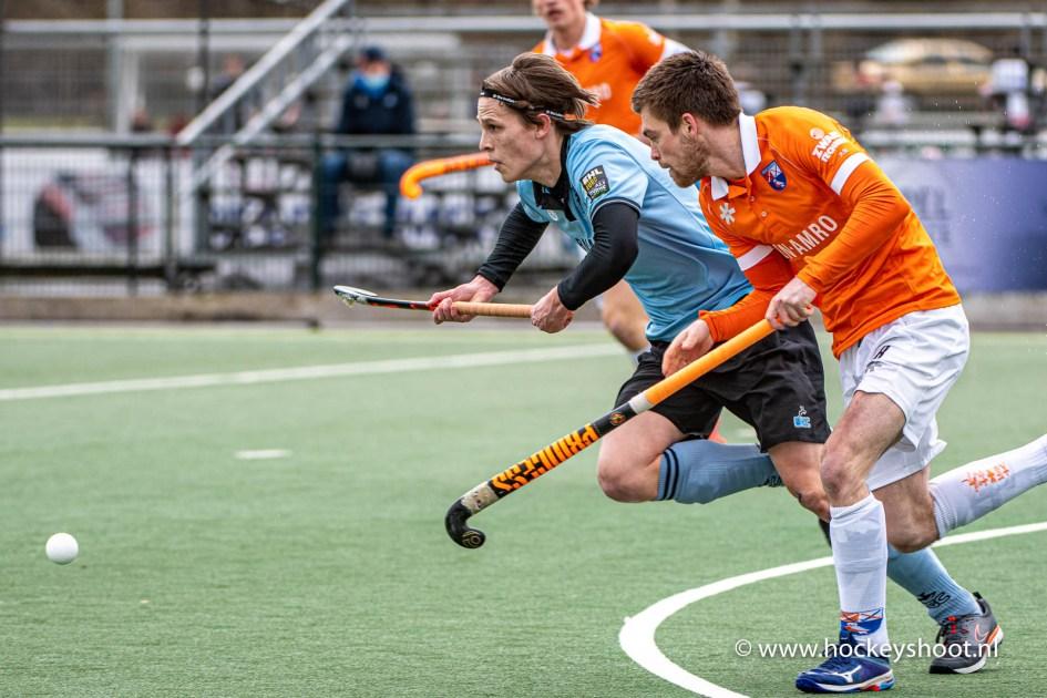 21-03-2021: Hockey: HGC H1 v Bloemendaal H1: Wassenaar Hockey Hoofdklasse heren 2021