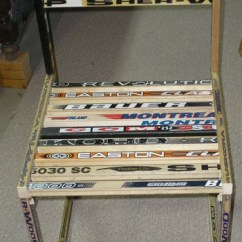 Desk Chair Made 1 2 With Ottoman Custom Hockey Stick