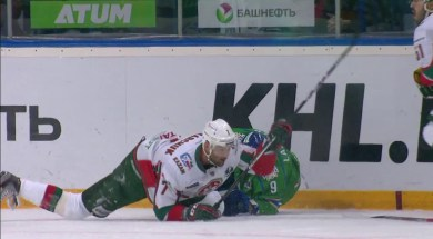 Zakharchuk's Dirty Hit Injures Lazarev