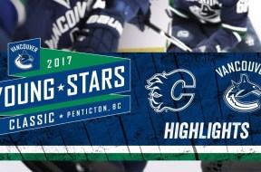 Canucks vs Flames Highlights at Young Stars