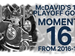 No 16/100: McDavid's 1st Playoff Goal