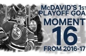 No 16/100: McDavid's 1st Playoff Goal