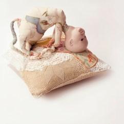 Knitted Revolving Chair Diy Burlap Covers Hoda Zarbaf