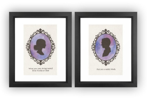 Buffy and Spike cameo prints