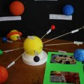 Our family solar system project received a second place ribbon