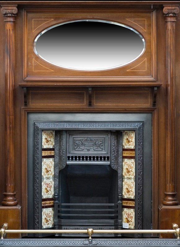 An edwardian mirrored surround