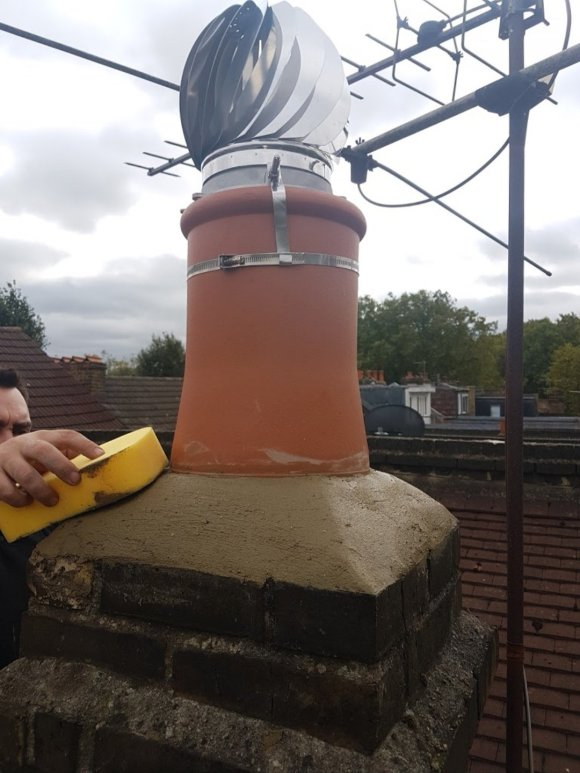 Chimney pot installation in Torquay, Paignton and Brixham by Hodgsons Chimney Sweeps