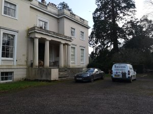 Hodgsons Chimney Sweeps undertaking a CCTV inspection at Trehill House, Kenn, Exeter