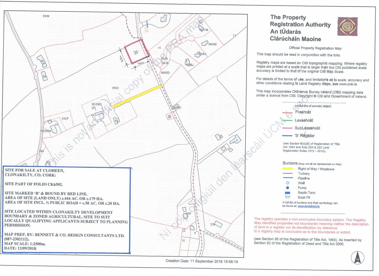 0.5 Acre Site Subject to Planning Permission