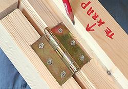 Scharnieren voor kastdeurtjes  Materialen voor constructie